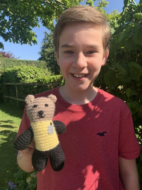 OUR WINNER and his prize! Well done Elliot