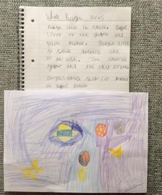 Zoe's brilliant Beegu writing