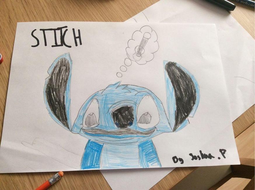 Joshua drew a brilliant Stitch.