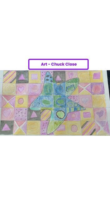 Amelia's Chuck Close Art