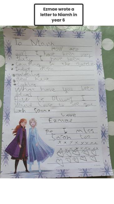 Ezmae's fantastic letter