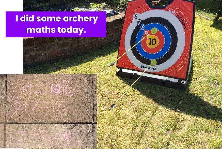Evie's archery maths