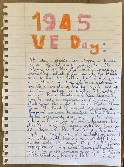 Great VE day work from Lily