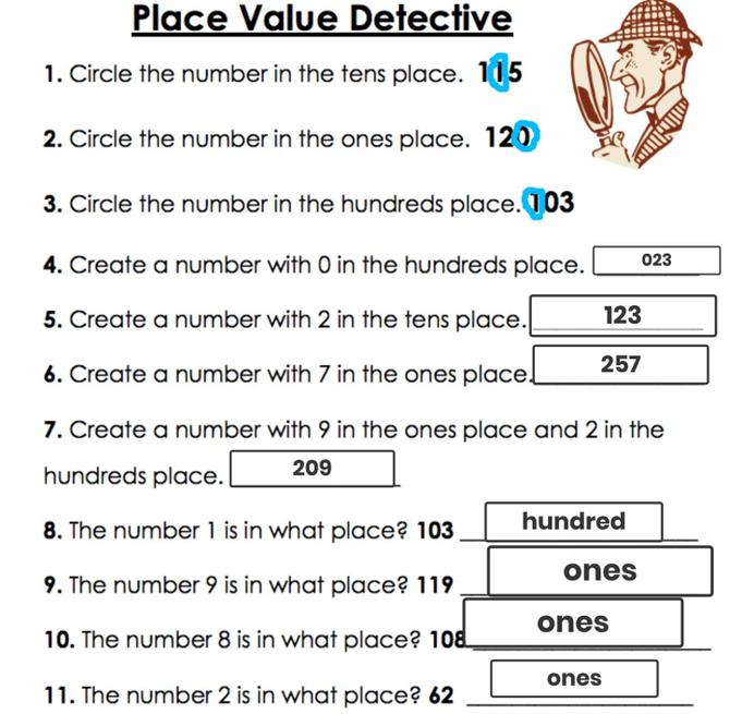 Fantastic place value work by Rosina.
