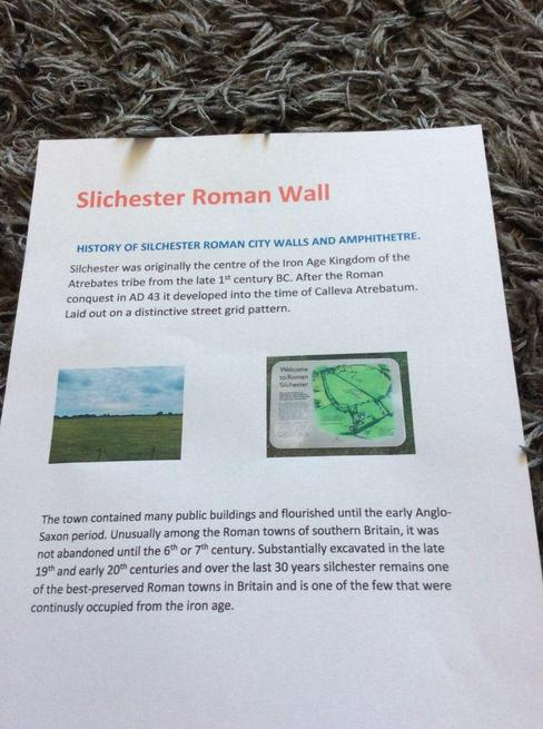 Sienna did a project about Roman SIlchester.