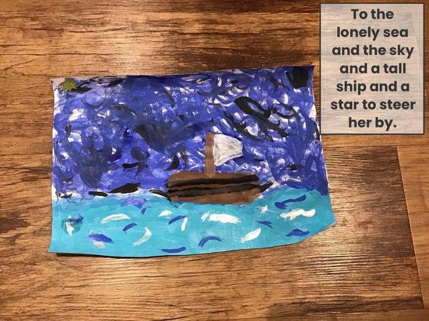 Natasha's Sea Fever Art Work