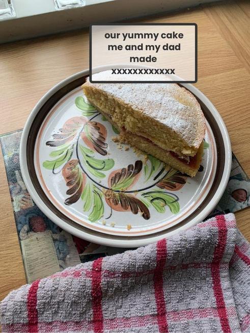 Lily made a yummy cake.