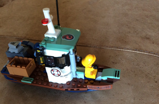 Evie's excellent Lego boat