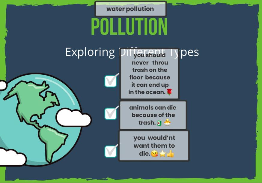 Sophia M learnt about the effects of pollution!