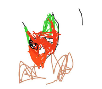 Nate drew a picture on Seesaw