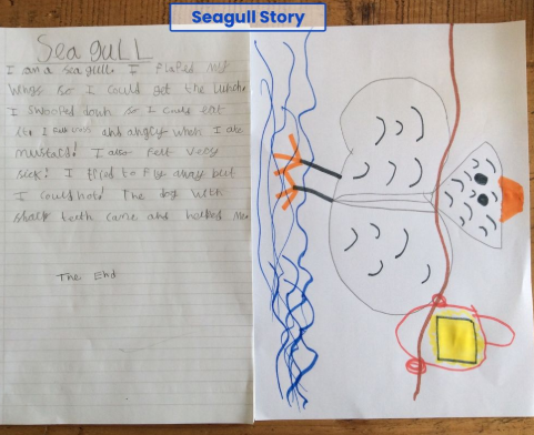 Zoe wrote a seagull story