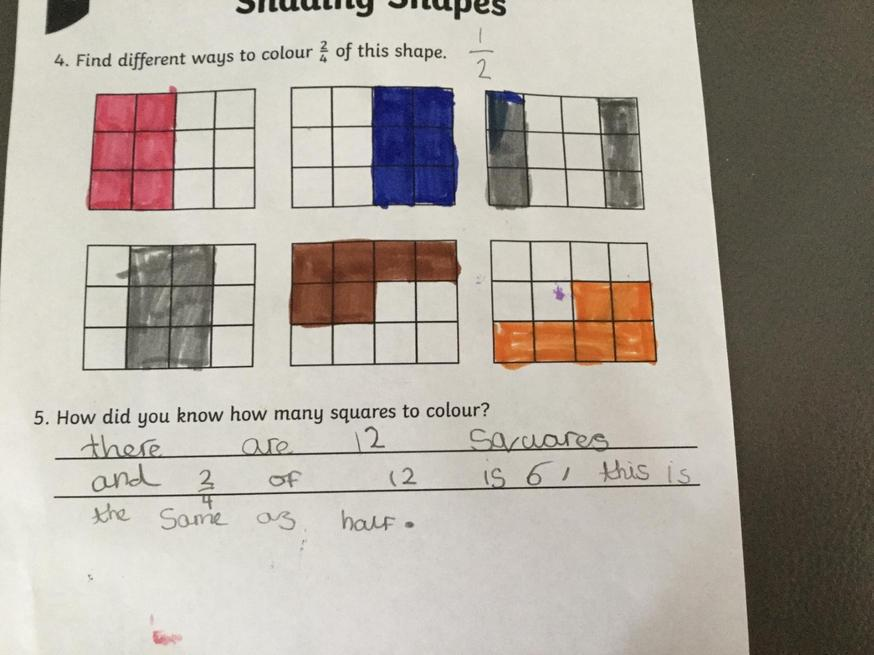 Fraction work by Alexa.