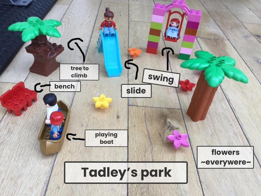 Super Lego Duplo park idea from Darcy.
