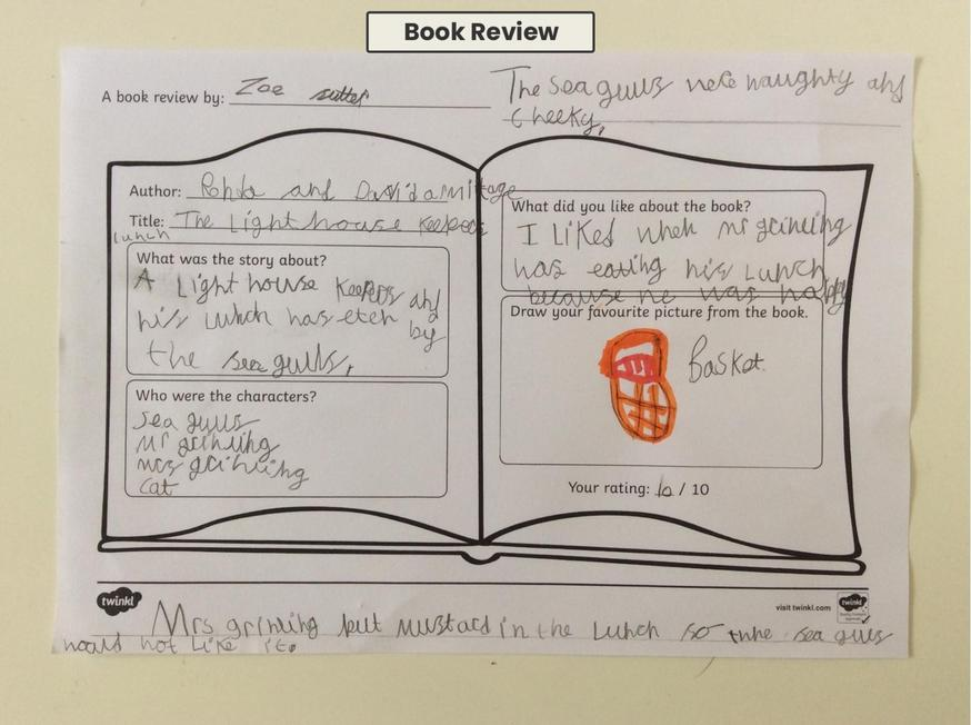 Zoe wrote a lovely book review
