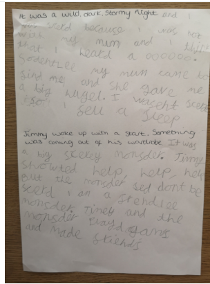 Ava-Lily's story writing
