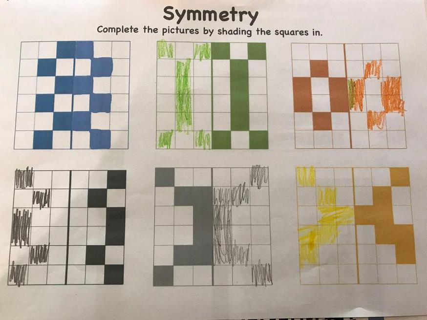 Josh worked hard on his symmetry.
