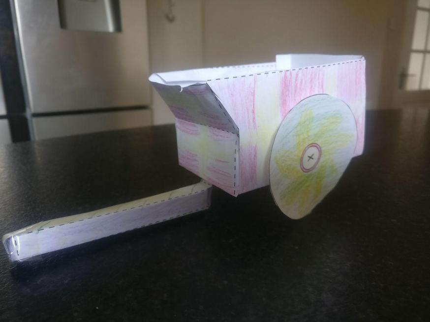 Ollie made a wonderful Roman chariot.