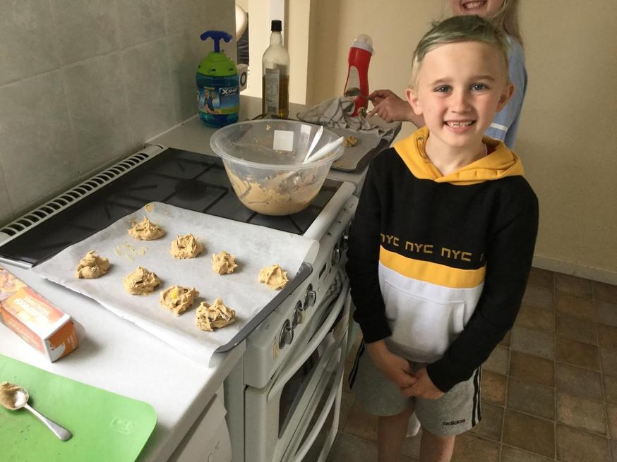 Yummy cookies baked by Theo!