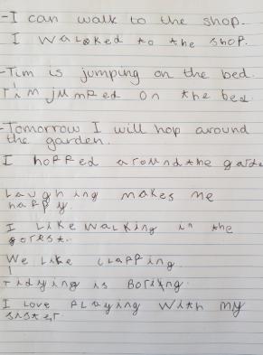 Jasmine's suffix -ed work!