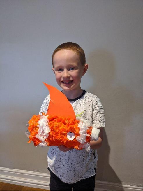 Noah created a Clownfish model - amazing.
