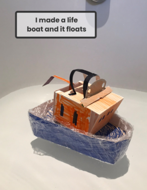 Zoe made a floating life boat