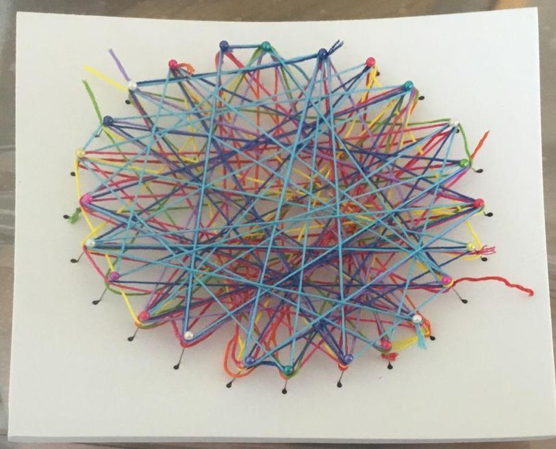 Skyla created some beautiful string art.