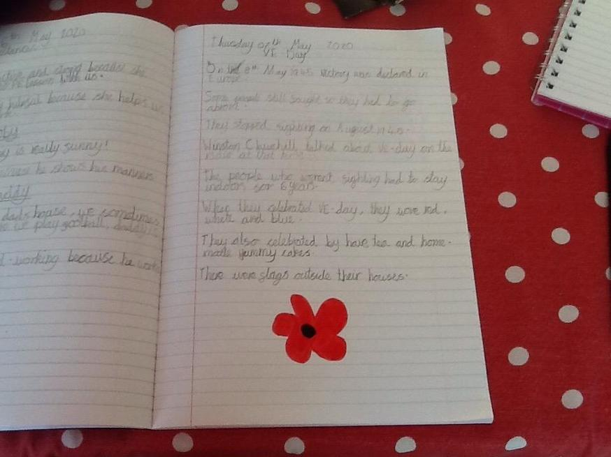 Excellent facts written by Katie about VE Day.