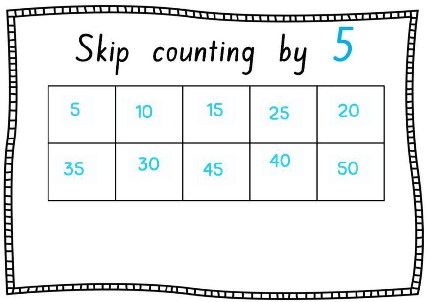 Great skip counting Nyah!