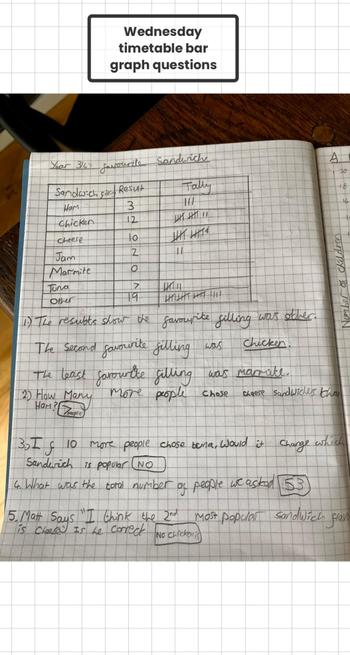 Some great data Maths work by Patrick.