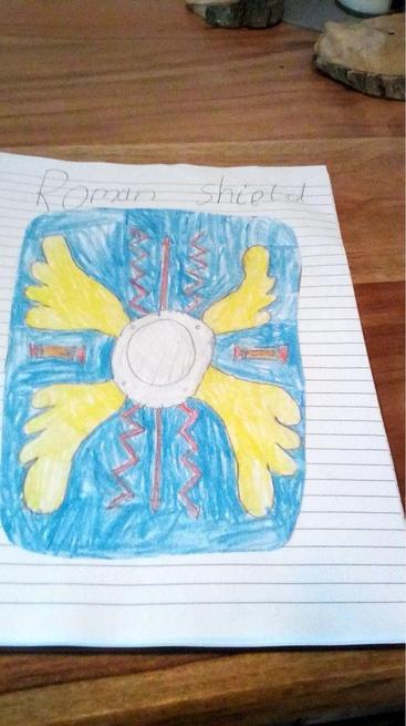 Logan designed a Roman shield.
