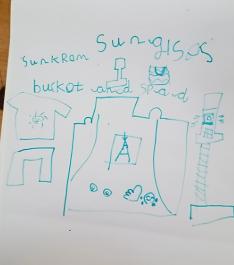 Rory's fabulous beach writing