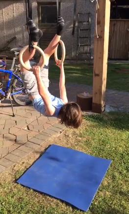 Oakley's amazing gymnastics