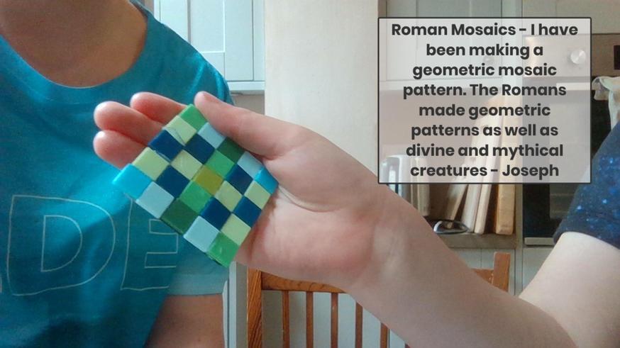 Joseph created a lovely mosaic.