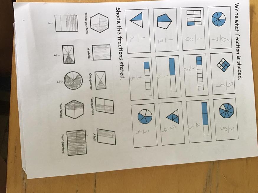 Brilliant fraction work by Noah.