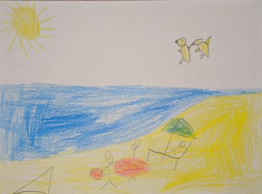 Noah made a postcard for Arthur