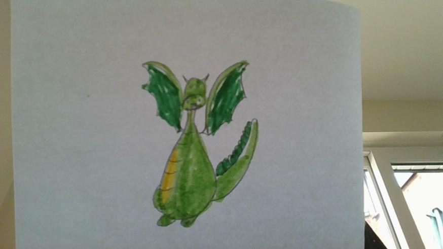 Impressive dragon drawing created by Lauren.