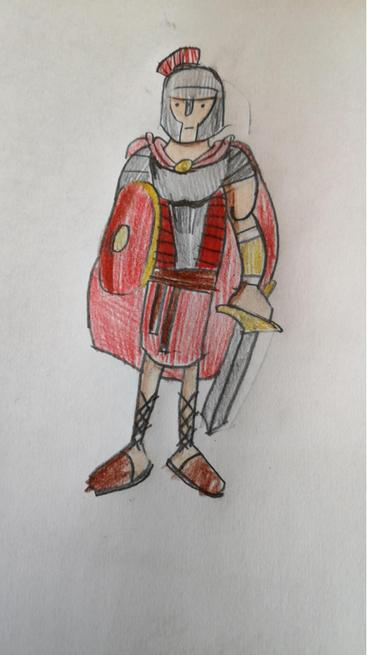 A fabulous Roman solider by Megan.