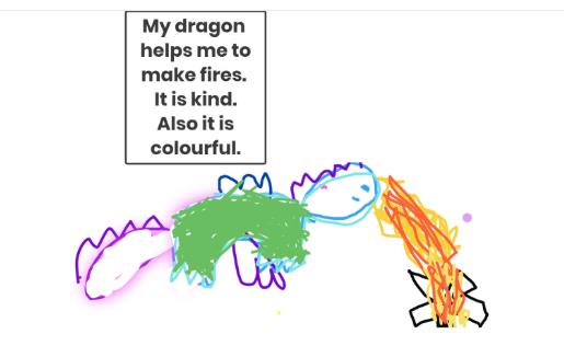 Rebekah's excellent dragon design