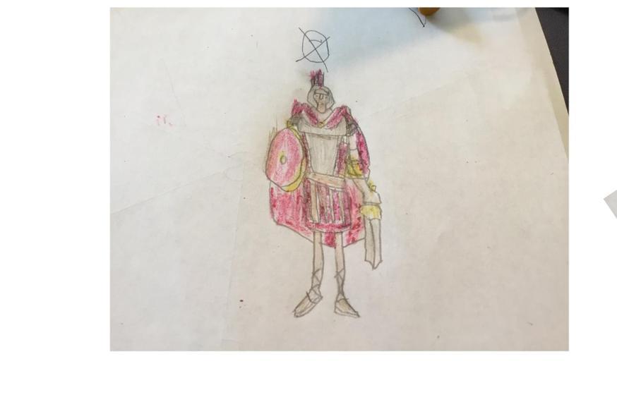 A Roman solider by Eva.