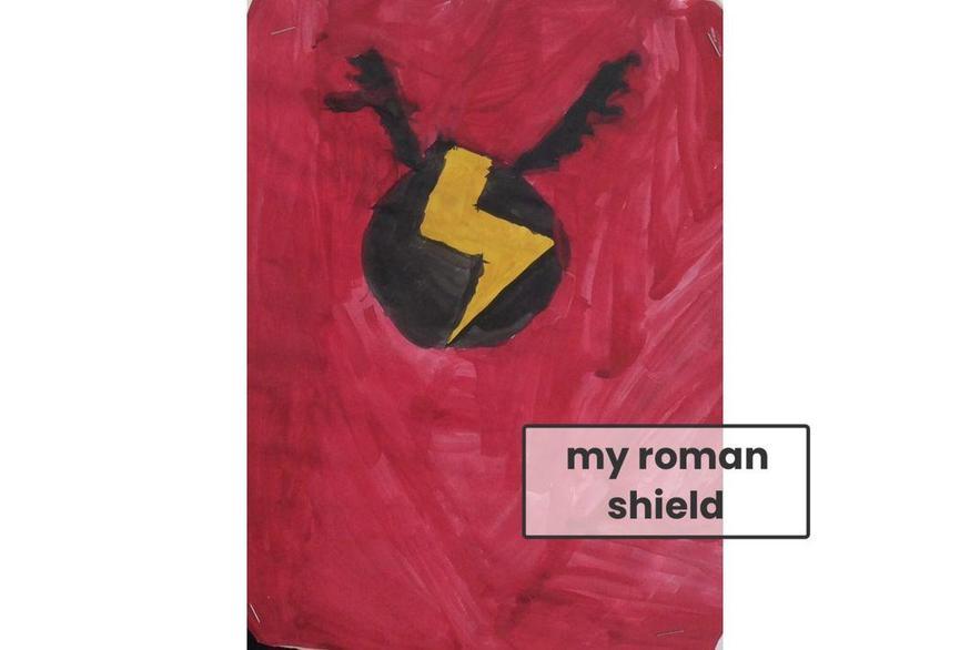 Izzy made a Roman shield.