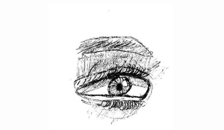 Chloe's super eye sketch