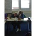 Hard at work in maths!