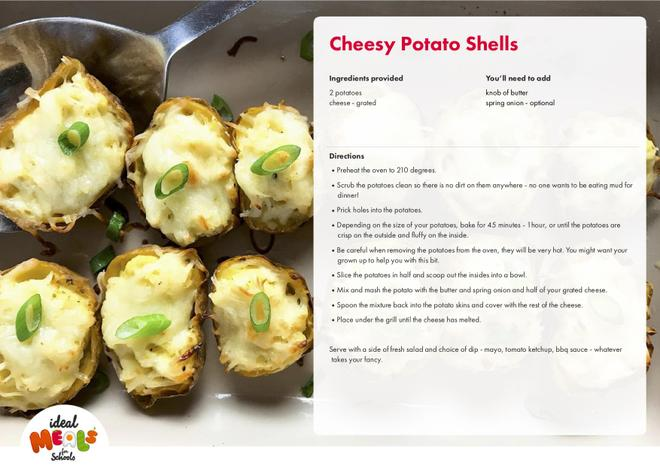 Cheesy Potato Shells