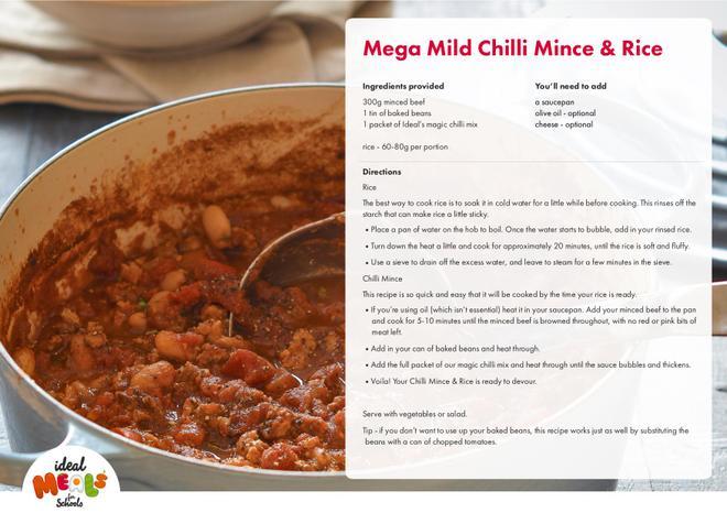 Mild Chilli & Rice