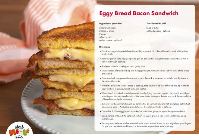 Eggy Bread Bacon Sandwich