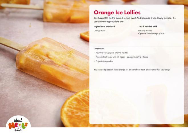 Orange Ice Lollies