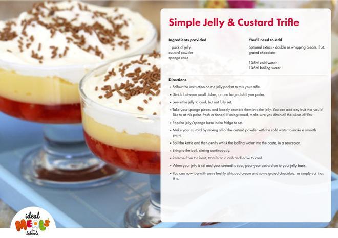 Simple Jelly Custard Trifle