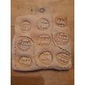Jack's imprinted tile