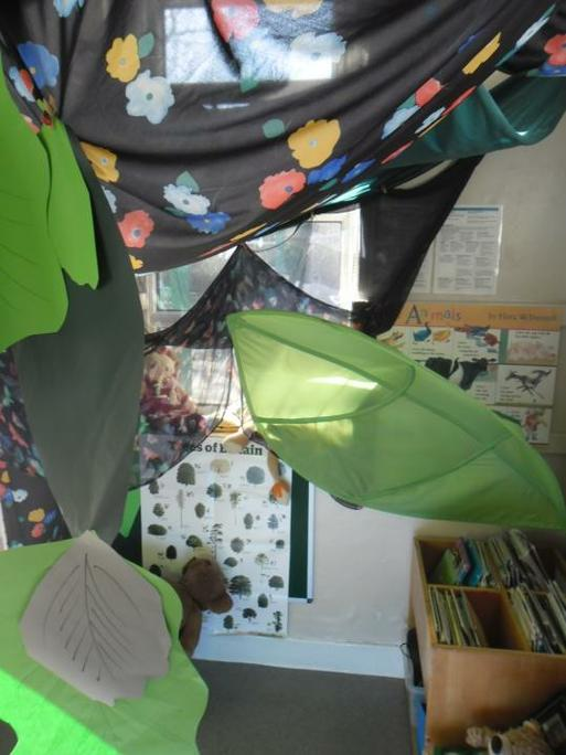 Our reading area changes to fit with our topic