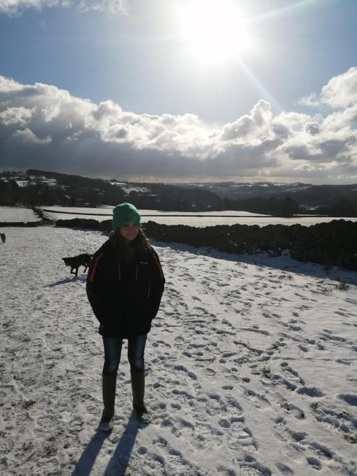 Snowy Walk for some fresh air